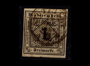 WUERTTEMBERG 1851 Nr 1 gestempelt (407769)