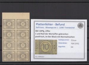 SBZ 1945 PLATTENFEHLER Nr 52aux VIII postfrisch (409041)