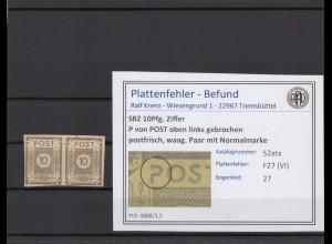 SBZ 1945 PLATTENFEHLER Nr 52atx VI postfrisch (409043)