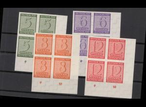 SBZ 1945 Nr 116-119X postfrisch (213554)
