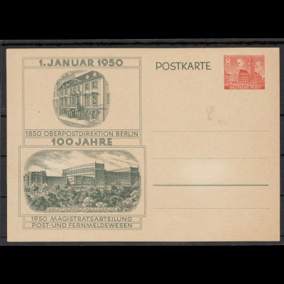 BERLIN 1950 GANZSACHE Nr P10 postfrisch (213706)