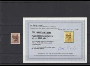 SBZ 1948 Nr 203Abwbz postfrisch (213733)