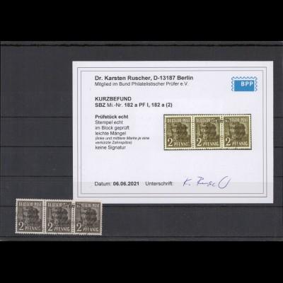 SBZ 1948 PLATTENFEHLER Nr 182 PF I gestempelt (213734)
