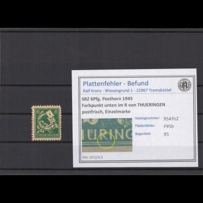 SBZ 1945 PLATTENFEHLER Nr 95AYz2 F95b postfrisch (213927)