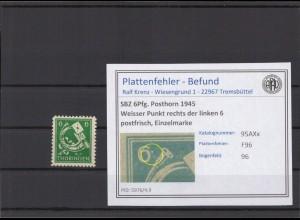 SBZ 1945 PLATTENFEHLER Nr 95AXx F96 postfrisch (213931)
