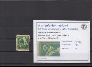 SBZ 1945 PLATTENFEHLER Nr 95AYz2 F96 postfrisch (213934)