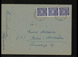 SBZ Zehnfachfrankatur-Brief mit u.a. Nr 935 gestempelt (214014)