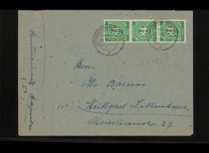 SBZ Zehnfachfrankatur-Brief mit u.a. Nr 936 gestempelt (214015)