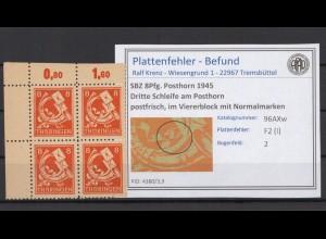 SBZ 1945 PLATTENFEHLER Nr 96AXw I postfrisch (409333)