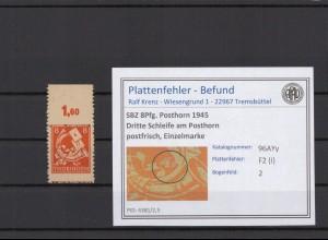 SBZ 1945 PLATTENFEHLER Nr 96AYy I postfrisch (409334)