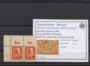 SBZ 1945 PLATTENFEHLER Nr 96AYy I postfrisch (409335)