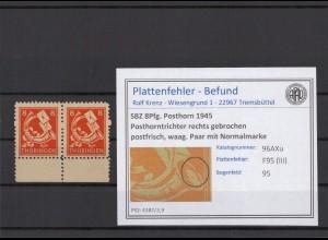 SBZ 1945 PLATTENFEHLER Nr 96AXu III postfrisch (409340)