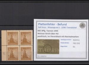 SBZ 1945 PLATTENFEHLER Nr 92AYz1 VI postfrisch (409379)