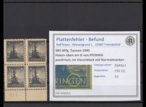 SBZ 1945 PLATTENFEHLER Nr 93AXp1 V postfrisch (409382)