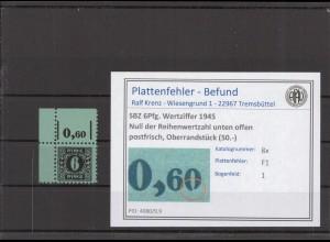 SBZ 1945 PLATTENFEHLER Nr 8x F1 postfrisch (409623)