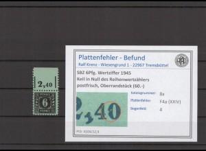 SBZ 1945 PLATTENFEHLER Nr 8x F4a postfrisch (409645)
