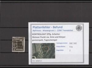 SBZ 1945 PLATTENFEHLER Nr 182 F2a gestempelt (409678)