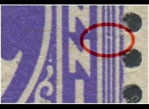 1z F57 postfrisch, waag. Paar mit Normalmarke (2520)